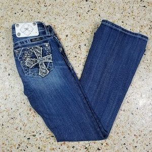 Miss Me Girls Boot Cut Jeans Size 8